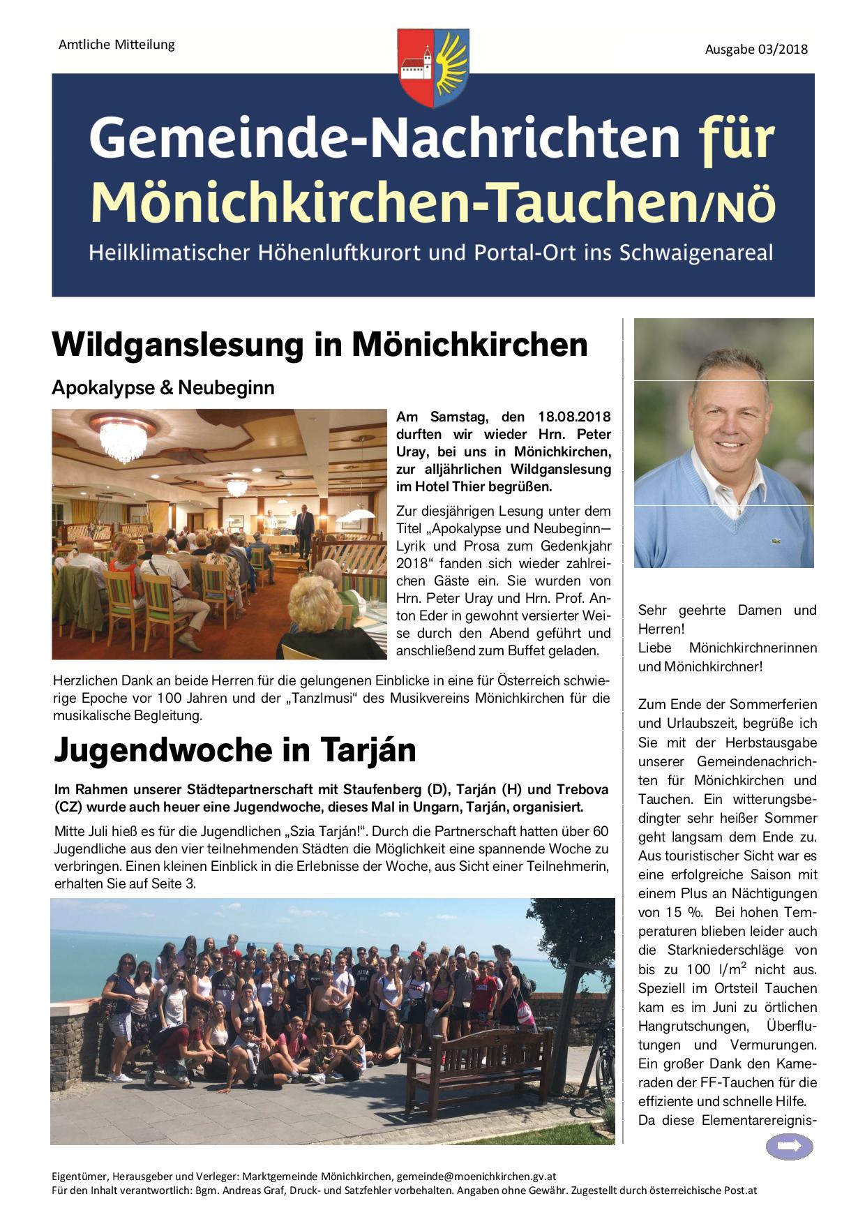 Mönichkirchner Nachrichten Ausgabe 03/2018 - Mönichkirchen ...